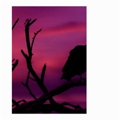 Vultures At Top Of Tree Silhouette Illustration Small Garden Flag (Two Sides)