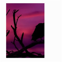 Vultures At Top Of Tree Silhouette Illustration Large Garden Flag (two Sides) by dflcprints