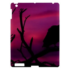 Vultures At Top Of Tree Silhouette Illustration Apple Ipad 3/4 Hardshell Case by dflcprints