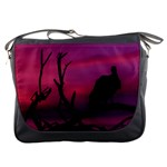 Vultures At Top Of Tree Silhouette Illustration Messenger Bags