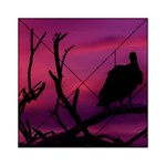 Vultures At Top Of Tree Silhouette Illustration Acrylic Tangram Puzzle (6  x 6 )