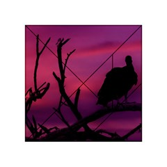 Vultures At Top Of Tree Silhouette Illustration Acrylic Tangram Puzzle (4  X 4 ) by dflcprints