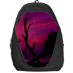 Vultures At Top Of Tree Silhouette Illustration Backpack Bag by dflcprints