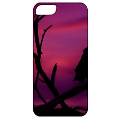 Vultures At Top Of Tree Silhouette Illustration Apple Iphone 5 Classic Hardshell Case by dflcprints