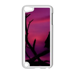 Vultures At Top Of Tree Silhouette Illustration Apple Ipod Touch 5 Case (white)