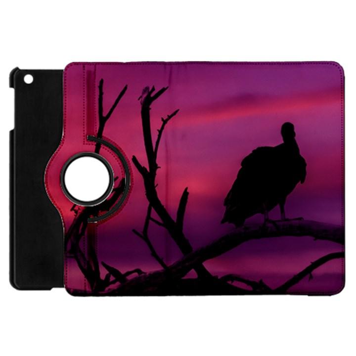 Vultures At Top Of Tree Silhouette Illustration Apple iPad Mini Flip 360 Case