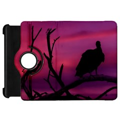 Vultures At Top Of Tree Silhouette Illustration Kindle Fire HD Flip 360 Case