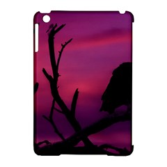 Vultures At Top Of Tree Silhouette Illustration Apple Ipad Mini Hardshell Case (compatible With Smart Cover) by dflcprints