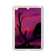 Vultures At Top Of Tree Silhouette Illustration Ipad Mini 2 Enamel Coated Cases by dflcprints