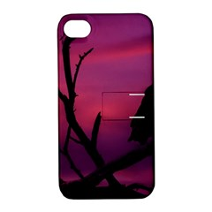 Vultures At Top Of Tree Silhouette Illustration Apple Iphone 4/4s Hardshell Case With Stand by dflcprints