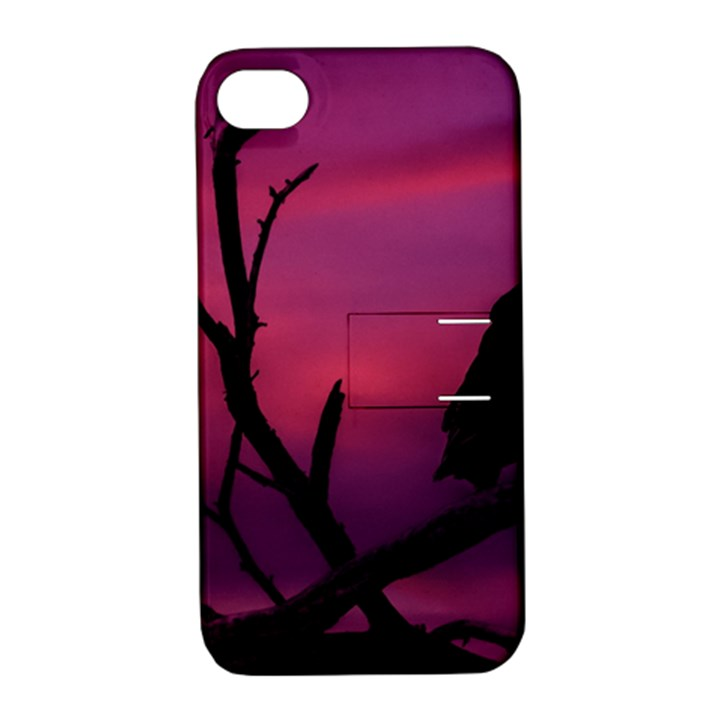 Vultures At Top Of Tree Silhouette Illustration Apple iPhone 4/4S Hardshell Case with Stand