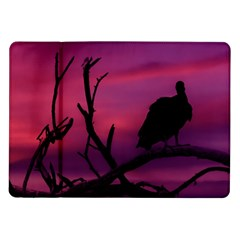 Vultures At Top Of Tree Silhouette Illustration Samsung Galaxy Tab 10 1  P7500 Flip Case