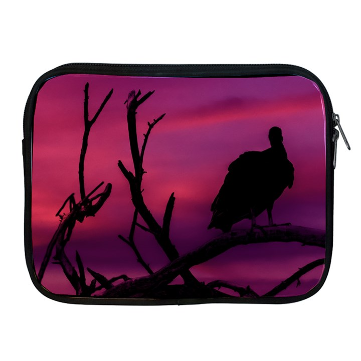 Vultures At Top Of Tree Silhouette Illustration Apple iPad 2/3/4 Zipper Cases