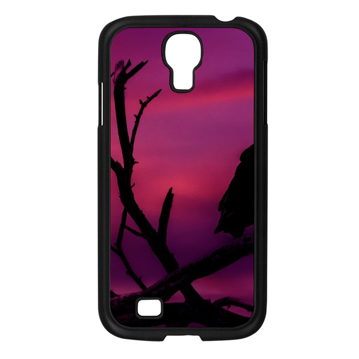 Vultures At Top Of Tree Silhouette Illustration Samsung Galaxy S4 I9500/ I9505 Case (Black)