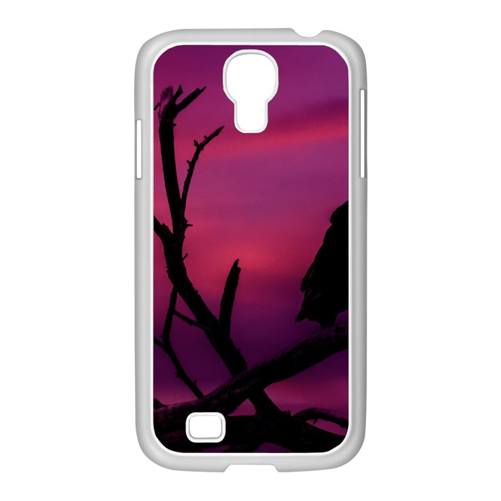 Vultures At Top Of Tree Silhouette Illustration Samsung GALAXY S4 I9500/ I9505 Case (White)