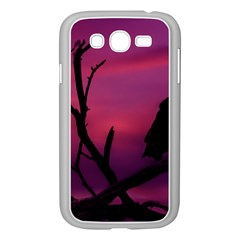 Vultures At Top Of Tree Silhouette Illustration Samsung Galaxy Grand DUOS I9082 Case (White)