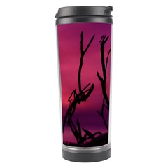 Vultures At Top Of Tree Silhouette Illustration Travel Tumbler by dflcprints