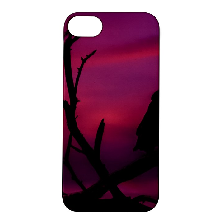 Vultures At Top Of Tree Silhouette Illustration Apple iPhone 5S/ SE Hardshell Case