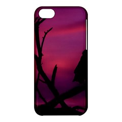 Vultures At Top Of Tree Silhouette Illustration Apple Iphone 5c Hardshell Case by dflcprints