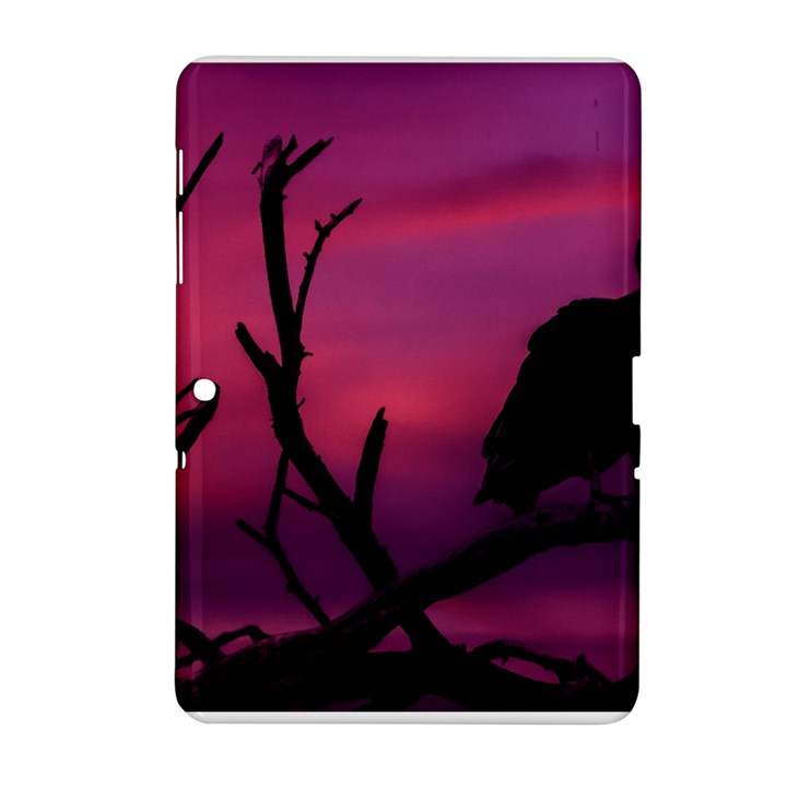 Vultures At Top Of Tree Silhouette Illustration Samsung Galaxy Tab 2 (10.1 ) P5100 Hardshell Case