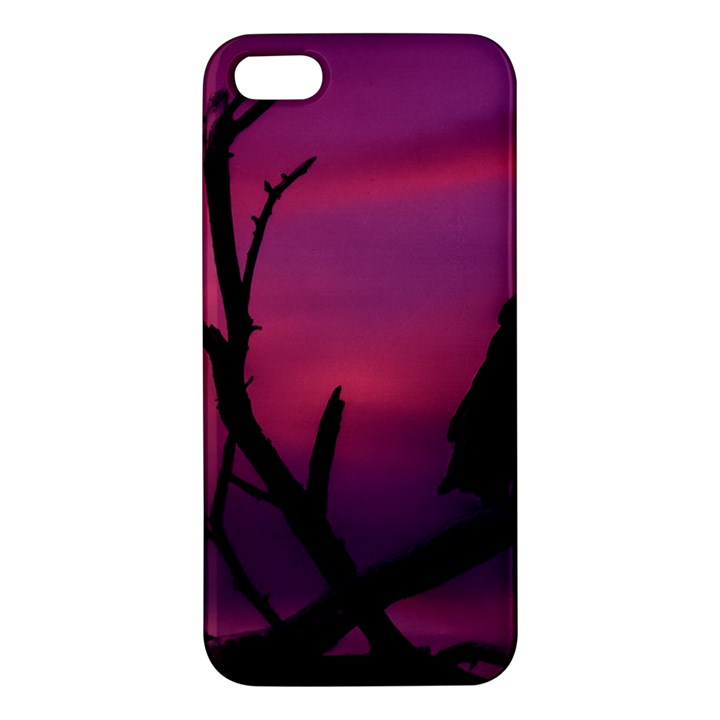Vultures At Top Of Tree Silhouette Illustration iPhone 5S/ SE Premium Hardshell Case