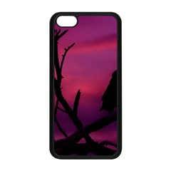 Vultures At Top Of Tree Silhouette Illustration Apple Iphone 5c Seamless Case (black) by dflcprints