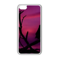 Vultures At Top Of Tree Silhouette Illustration Apple iPhone 5C Seamless Case (White)