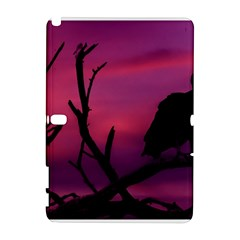 Vultures At Top Of Tree Silhouette Illustration Samsung Galaxy Note 10 1 (p600) Hardshell Case by dflcprints