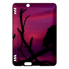 Vultures At Top Of Tree Silhouette Illustration Kindle Fire Hdx Hardshell Case by dflcprints