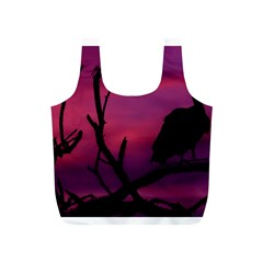 Vultures At Top Of Tree Silhouette Illustration Full Print Recycle Bags (s)  by dflcprints