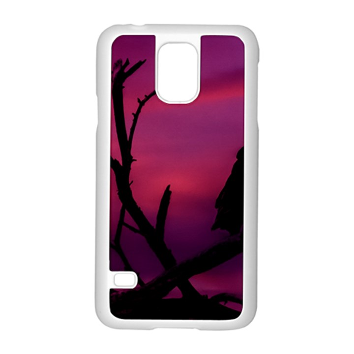 Vultures At Top Of Tree Silhouette Illustration Samsung Galaxy S5 Case (White)