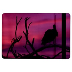 Vultures At Top Of Tree Silhouette Illustration Ipad Air 2 Flip by dflcprints