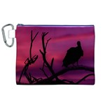 Vultures At Top Of Tree Silhouette Illustration Canvas Cosmetic Bag (XL)