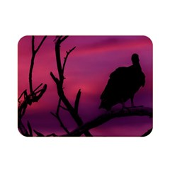 Vultures At Top Of Tree Silhouette Illustration Double Sided Flano Blanket (Mini)