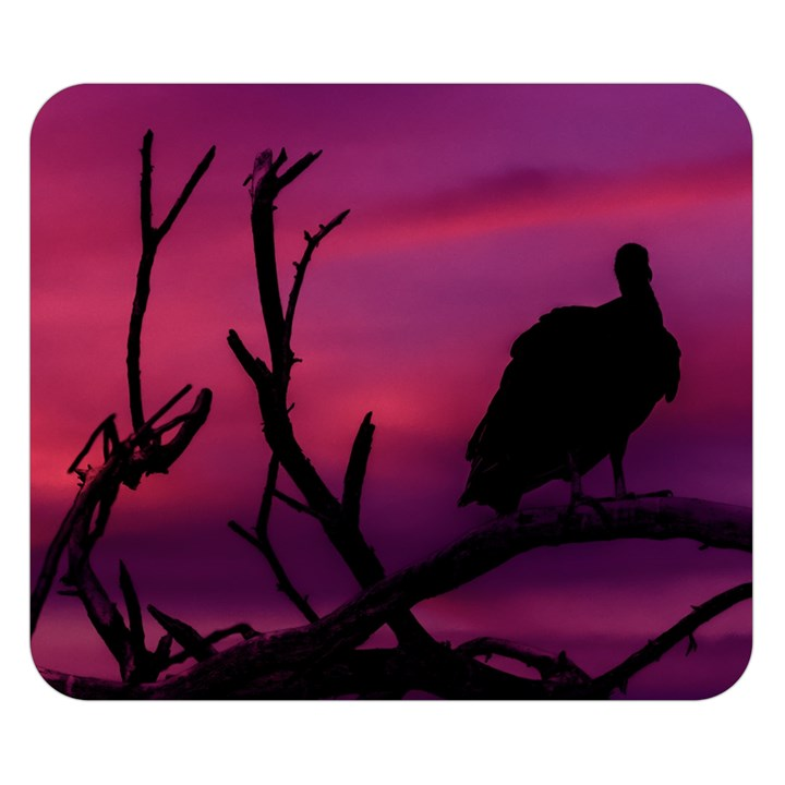 Vultures At Top Of Tree Silhouette Illustration Double Sided Flano Blanket (Small)