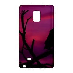 Vultures At Top Of Tree Silhouette Illustration Galaxy Note Edge by dflcprints