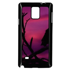 Vultures At Top Of Tree Silhouette Illustration Samsung Galaxy Note 4 Case (black) by dflcprints