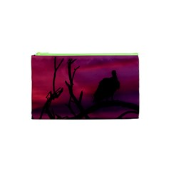 Vultures At Top Of Tree Silhouette Illustration Cosmetic Bag (xs) by dflcprints