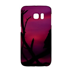 Vultures At Top Of Tree Silhouette Illustration Galaxy S6 Edge by dflcprints
