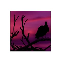 Vultures At Top Of Tree Silhouette Illustration Satin Bandana Scarf by dflcprints