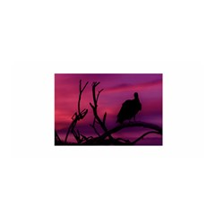 Vultures At Top Of Tree Silhouette Illustration Satin Wrap by dflcprints