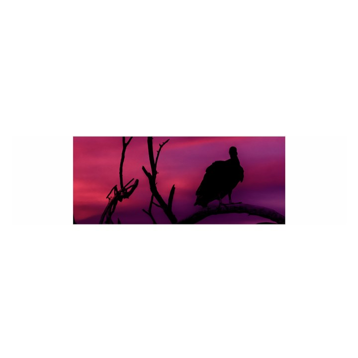 Vultures At Top Of Tree Silhouette Illustration Satin Scarf (Oblong)