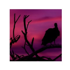 Vultures At Top Of Tree Silhouette Illustration Small Satin Scarf (square)  by dflcprints