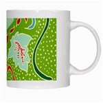 Green Organic Abstract White Mugs Right