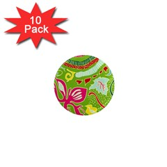 Green Organic Abstract 1  Mini Magnet (10 pack)
