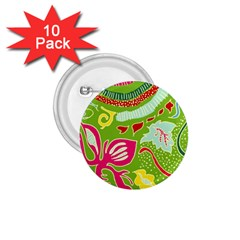 Green Organic Abstract 1.75  Buttons (10 pack)