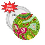 Green Organic Abstract 2.25  Buttons (100 pack)  Front