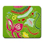Green Organic Abstract Large Mousepads Front