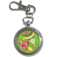 Green Organic Abstract Key Chain Watches