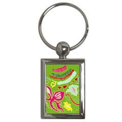 Green Organic Abstract Key Chains (Rectangle)